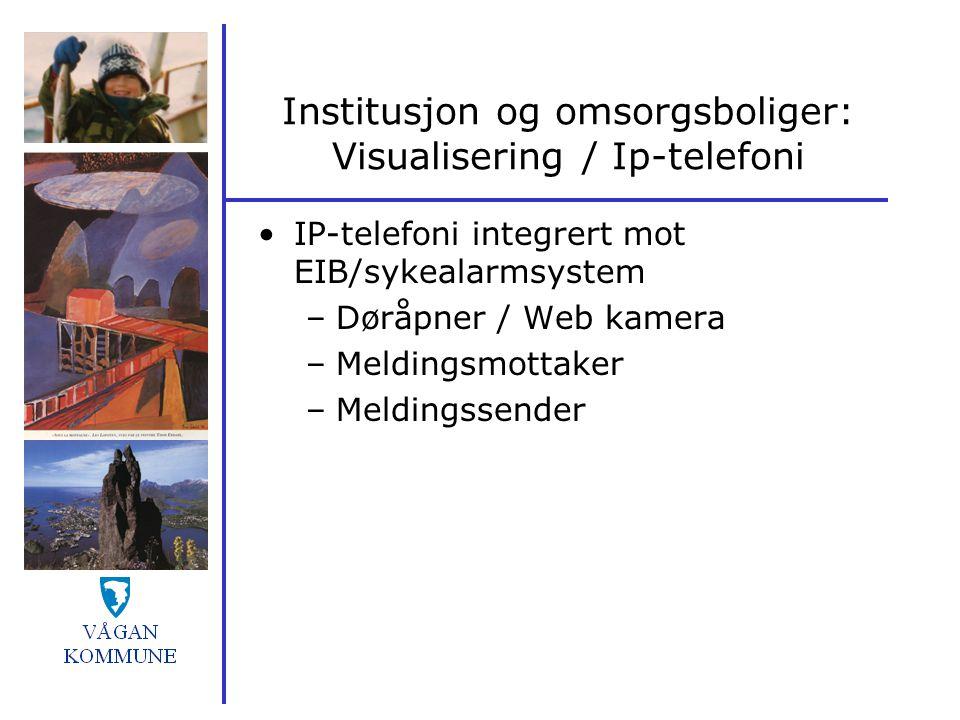 Institusjon og omsorgsboliger: Visualisering / Ip-telefoni