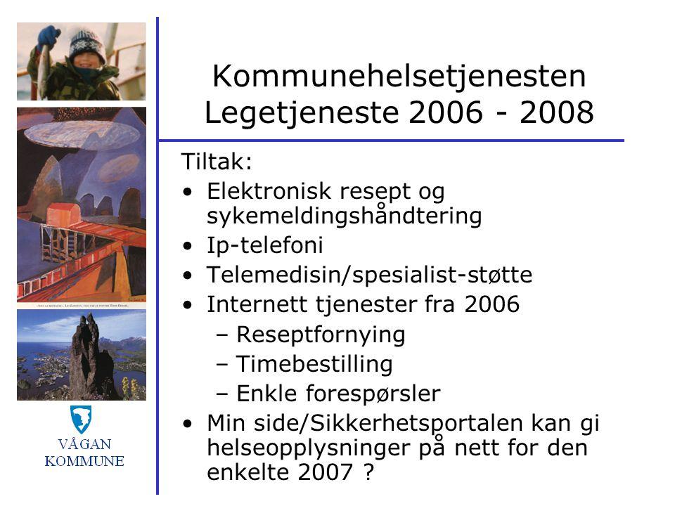 Kommunehelsetjenesten Legetjeneste 2006 - 2008