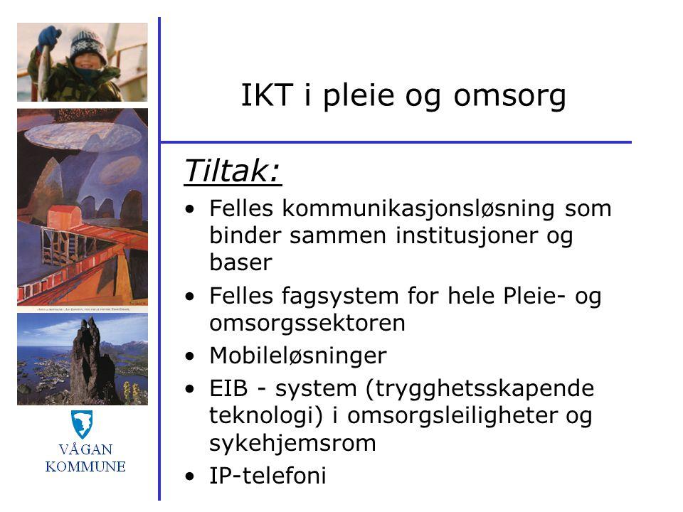 IKT i pleie og omsorg Tiltak: