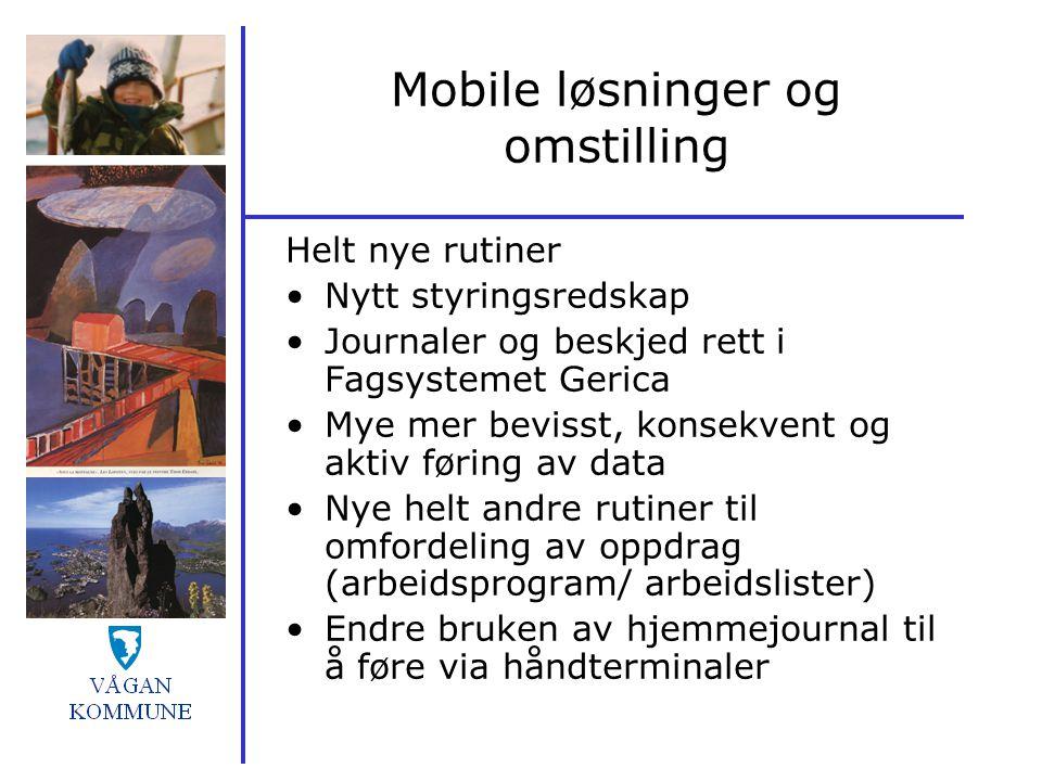 Mobile løsninger og omstilling