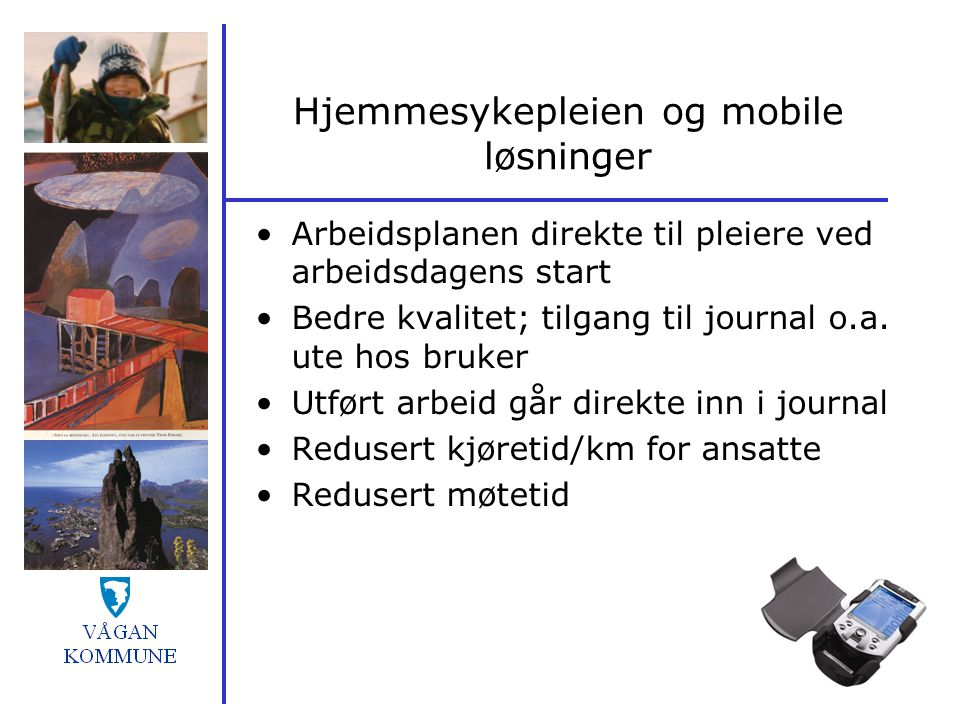 Hjemmesykepleien og mobile løsninger