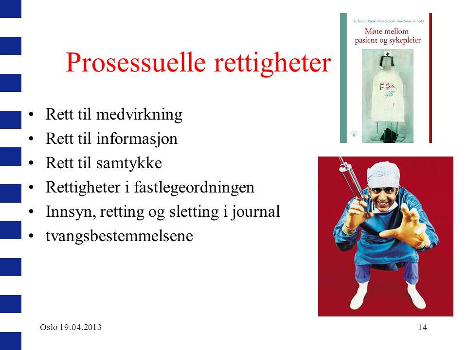 Prosessuelle rettigheter