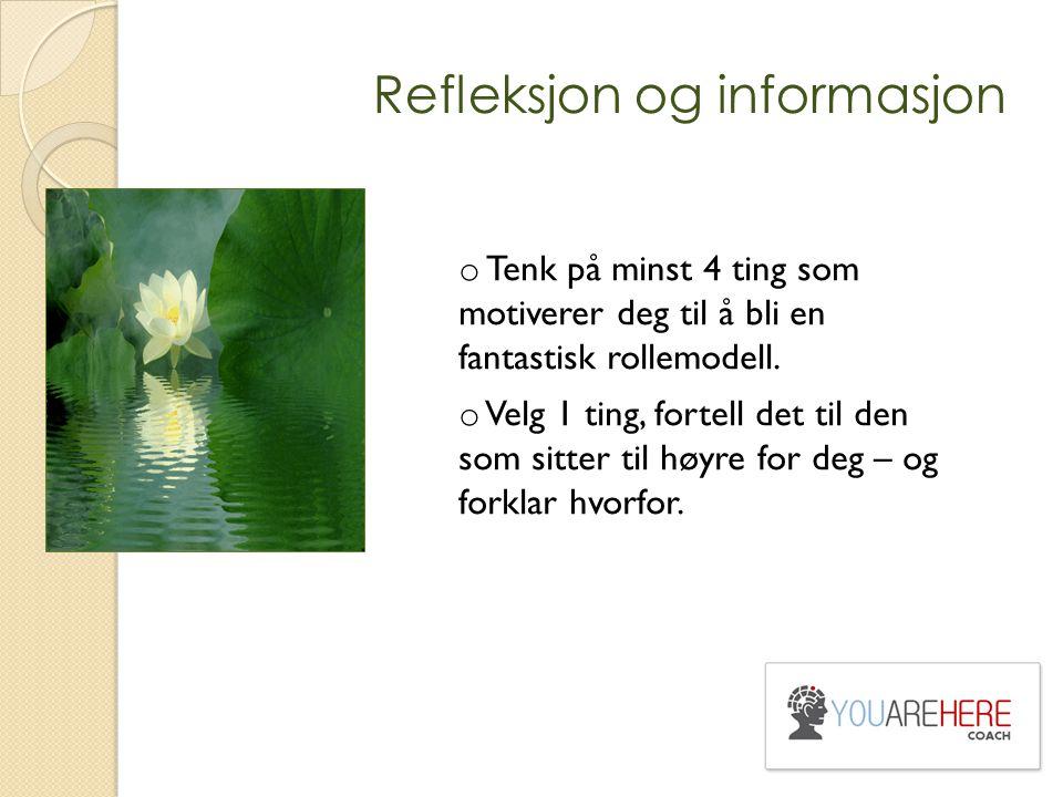 Refleksjon og informasjon
