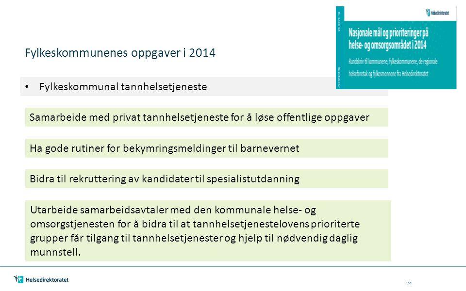 Fylkeskommunenes oppgaver i 2014