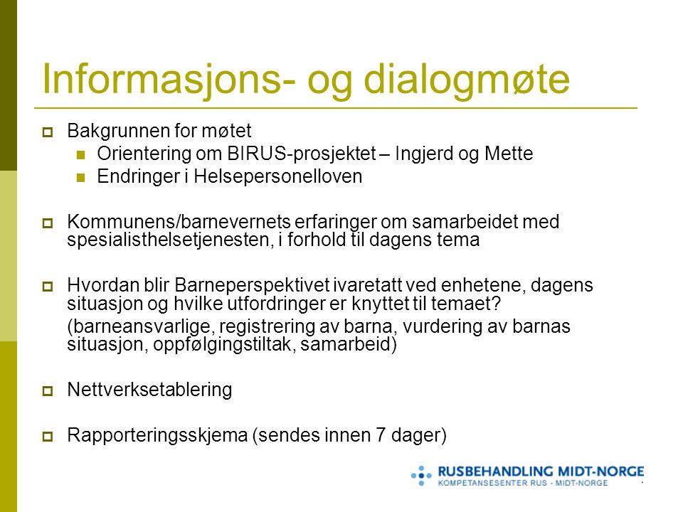 Informasjons- og dialogmøte