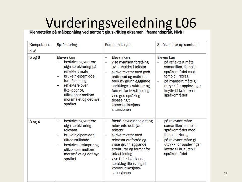 Vurderingsveiledning L06