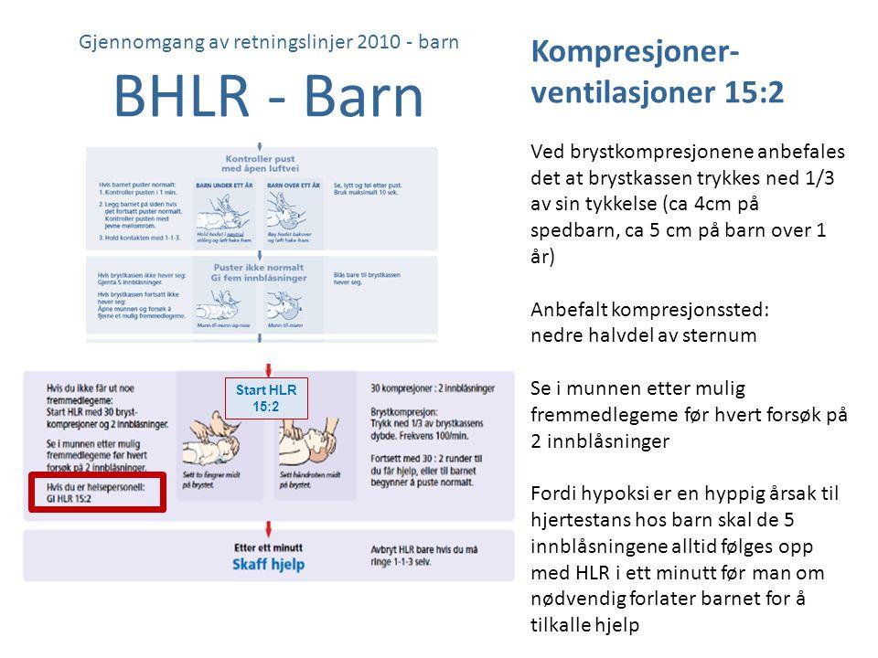 Gjennomgang av retningslinjer 2010 - barn BHLR - Barn