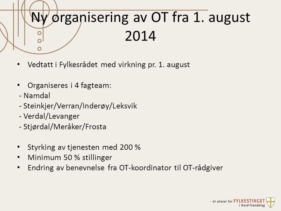 Ny organisering av OT fra 1. august 2014