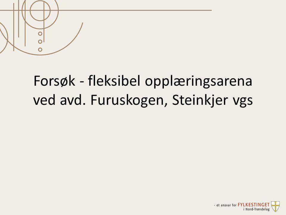 Forsøk - fleksibel opplæringsarena ved avd. Furuskogen, Steinkjer vgs