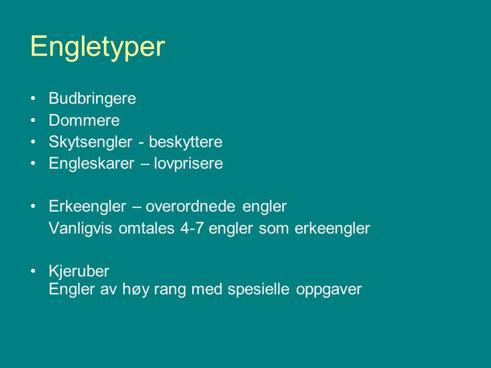 Engletyper Budbringere Dommere Skytsengler - beskyttere
