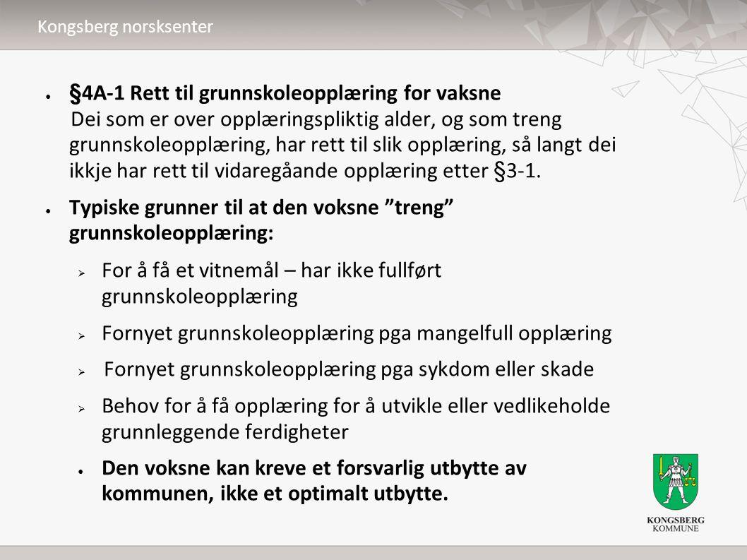 Kongsberg norsksenter