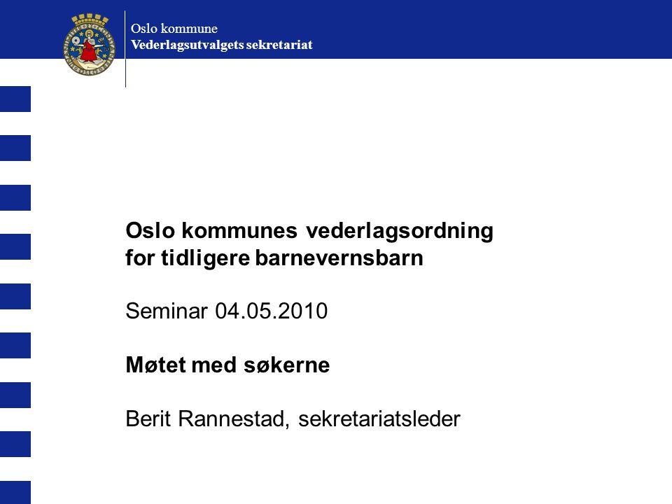 Oslo kommunes vederlagsordning for tidligere barnevernsbarn