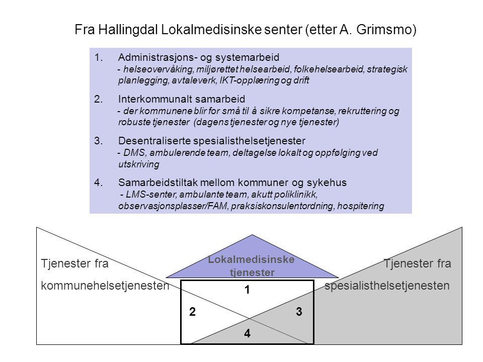Fra Hallingdal Lokalmedisinske senter (etter A. Grimsmo)
