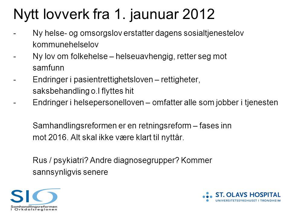 Nytt lovverk fra 1. jaunuar 2012