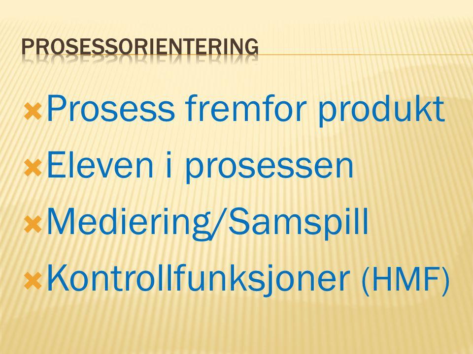 Prosess fremfor produkt Eleven i prosessen Mediering/Samspill