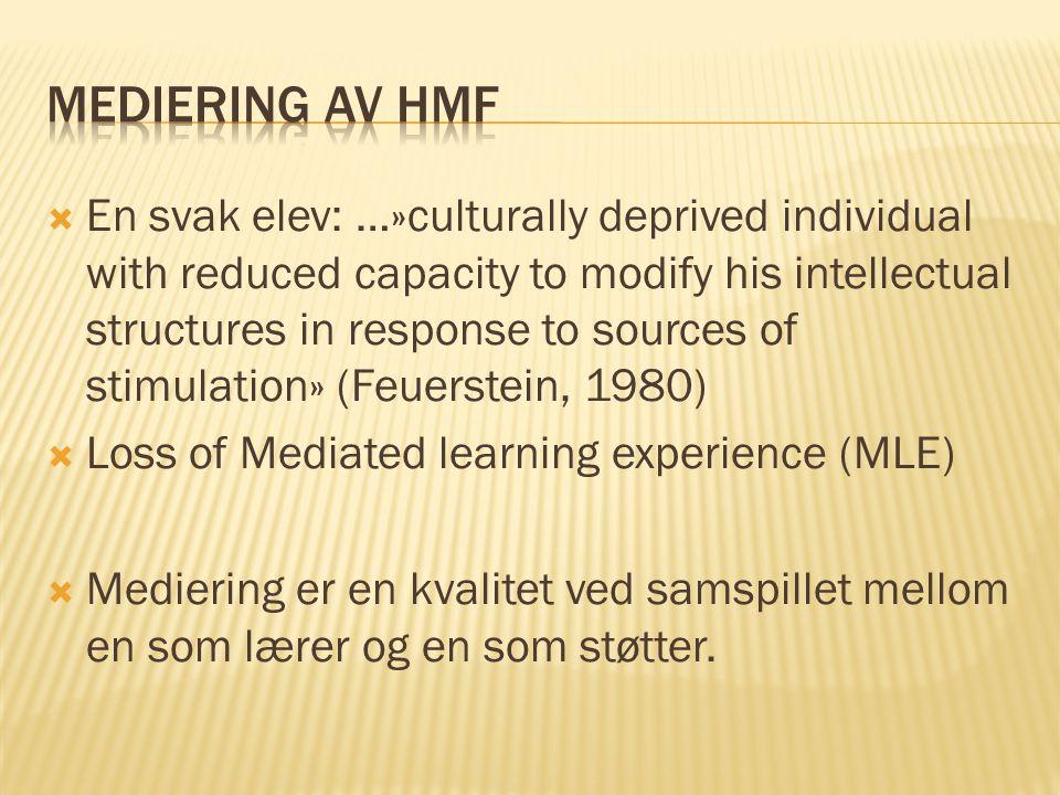 Mediering av HMF
