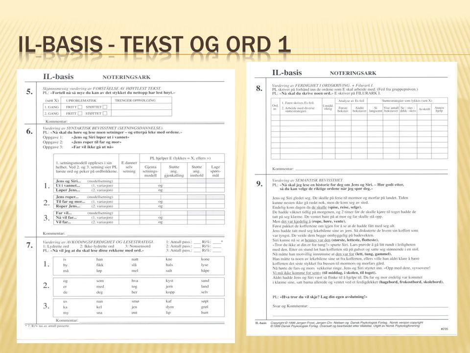 IL-basis - Tekst og Ord 1