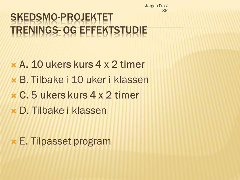 Skedsmo-projektet Trenings- og effektstudie