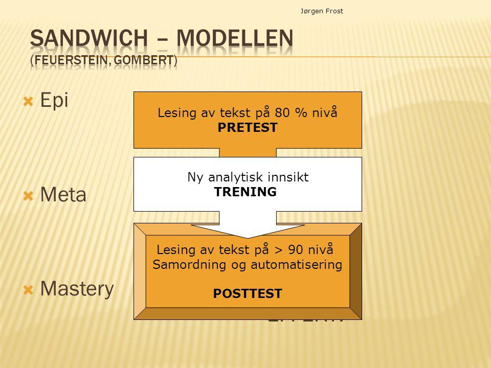 Sandwich – modellen (Feuerstein, Gombert)