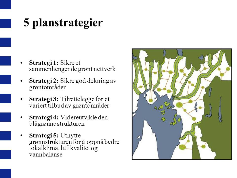 5 planstrategier Strategi 1: Sikre et sammenhengende grønt nettverk