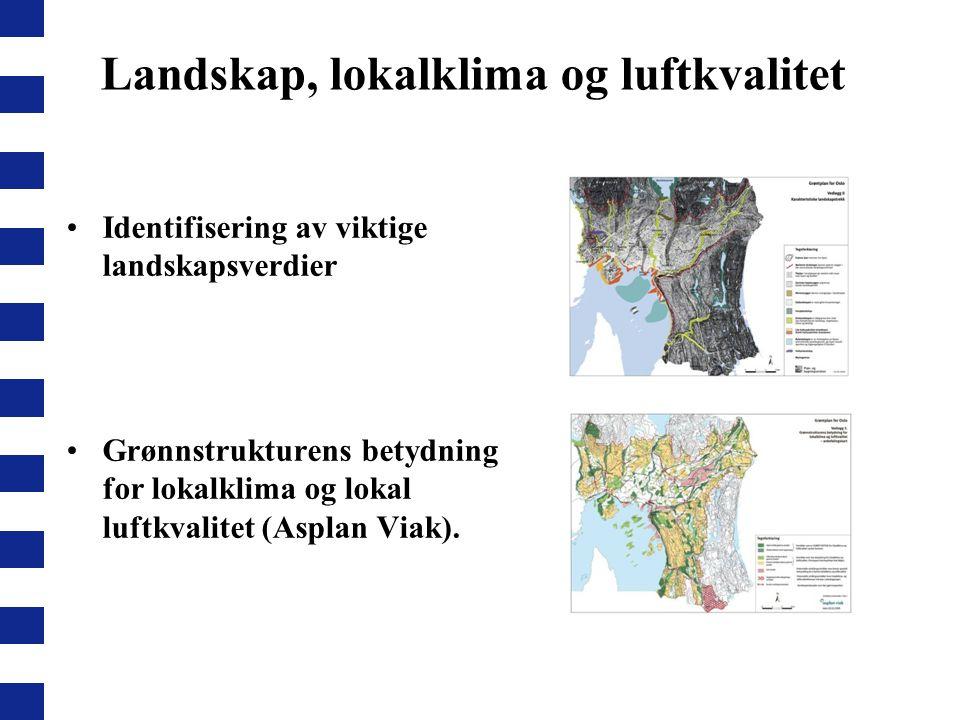 Landskap, lokalklima og luftkvalitet