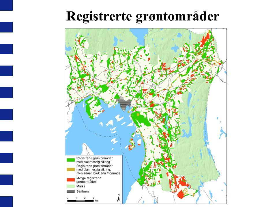 Registrerte grøntområder