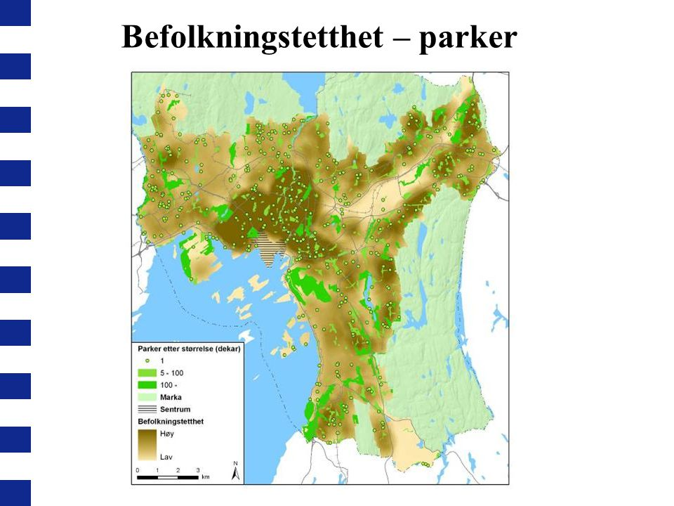 Befolkningstetthet – parker