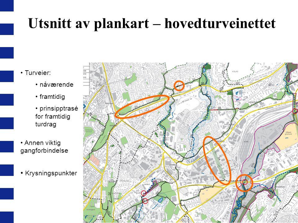 Utsnitt av plankart – hovedturveinettet