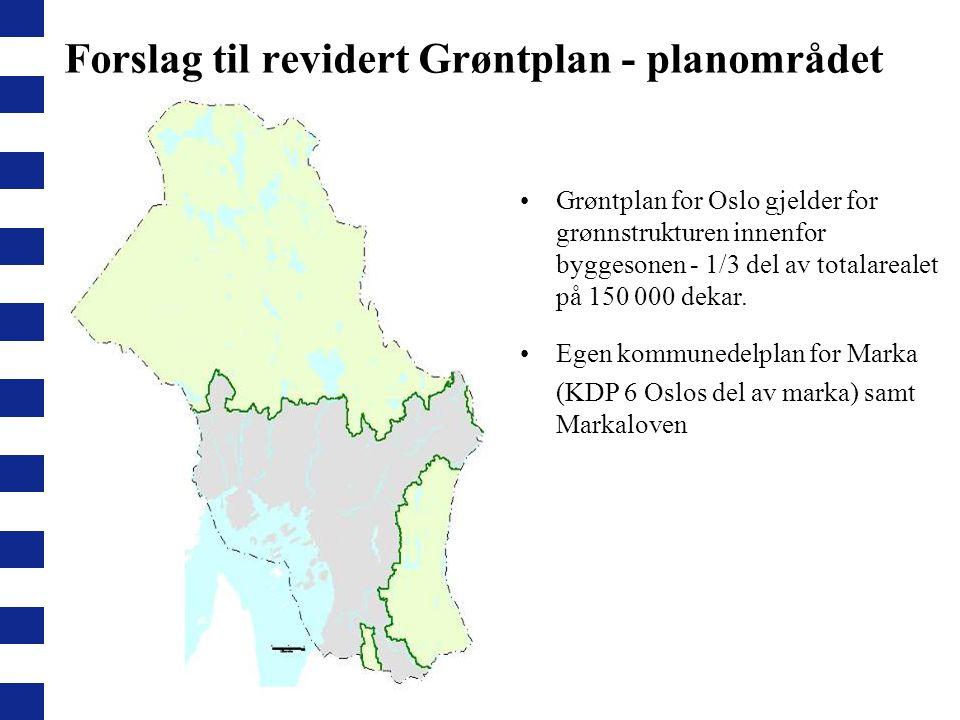 Forslag til revidert Grøntplan - planområdet