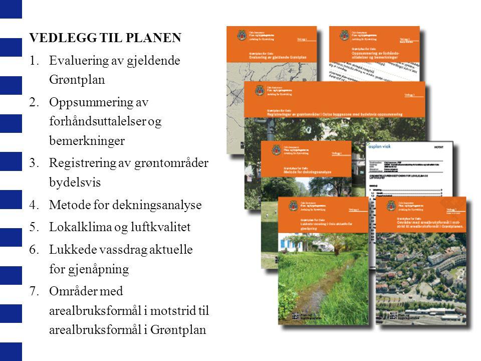 VEDLEGG TIL PLANEN Evaluering av gjeldende Grøntplan. Oppsummering av forhåndsuttalelser og bemerkninger.