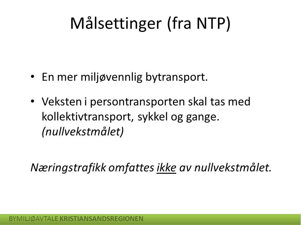 Målsettinger (fra NTP)