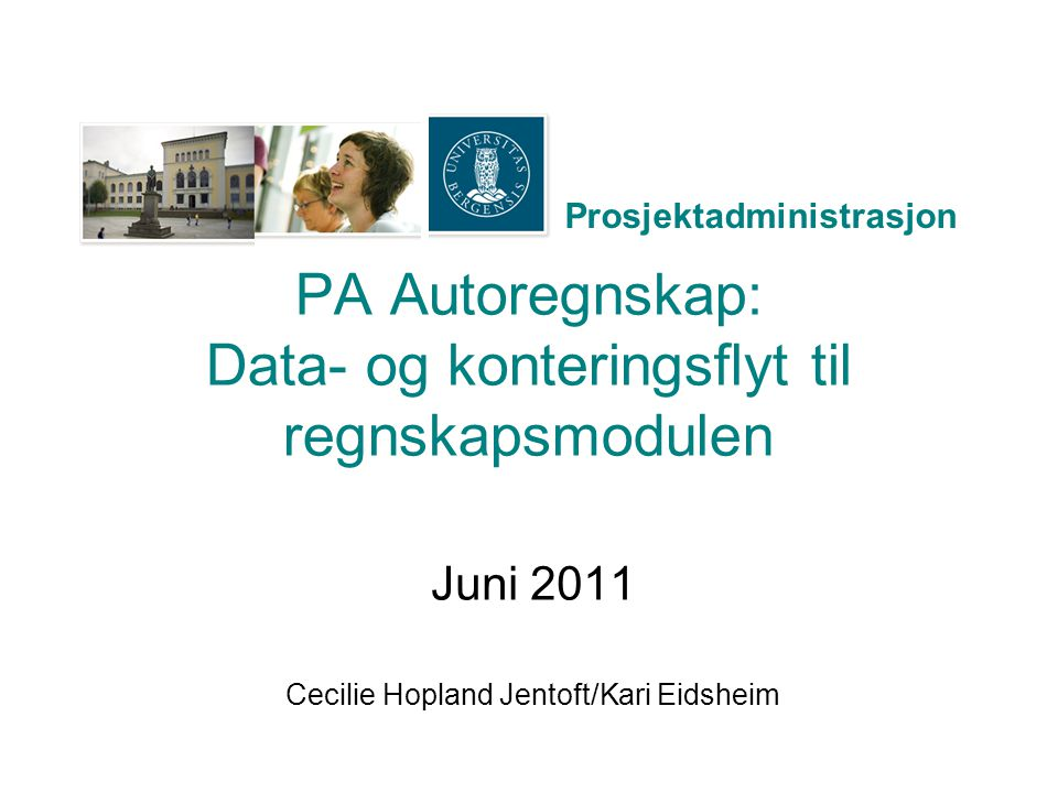 PA Autoregnskap: Data- og konteringsflyt til regnskapsmodulen