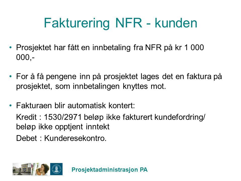 Fakturering NFR - kunden