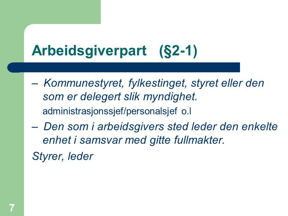 Arbeidsgiverpart (§2-1)