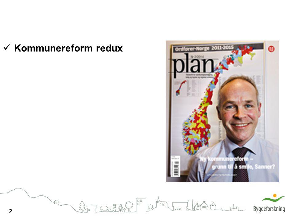 Kommunereform redux
