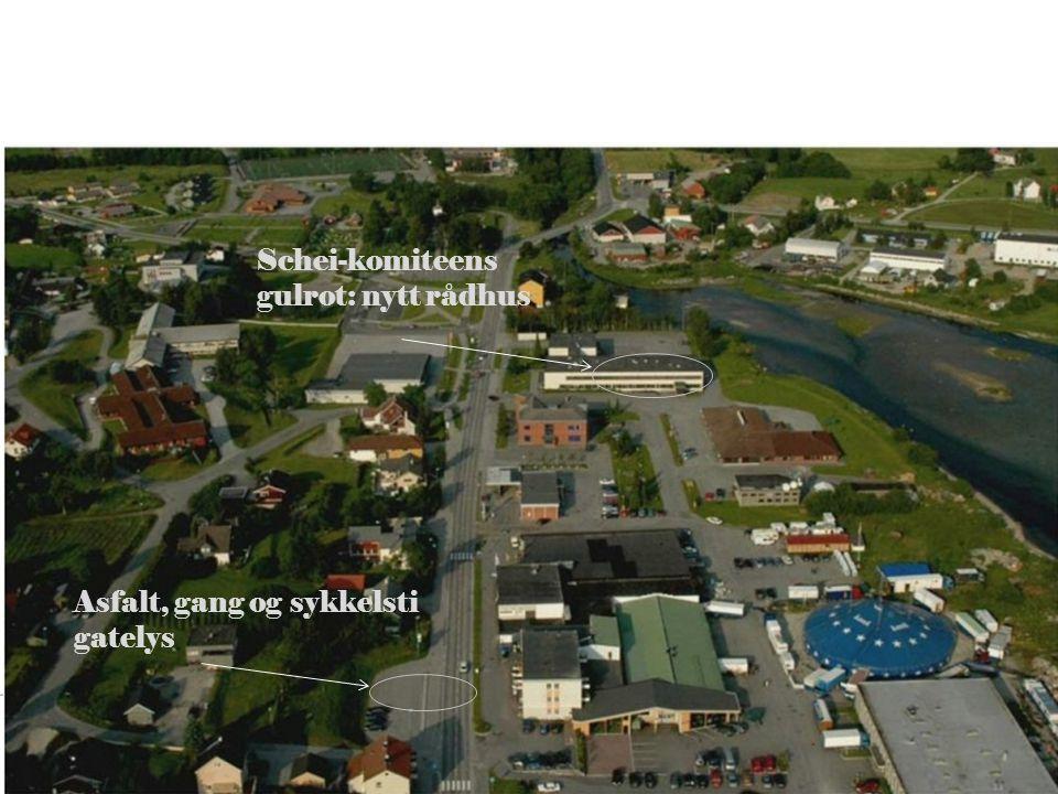 Schei-komiteens gulrot: nytt rådhus Asfalt, gang og sykkelsti gatelys
