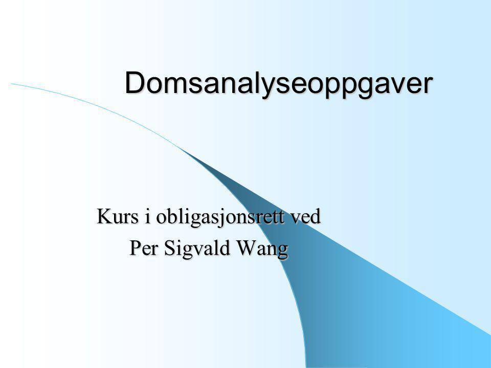 Kurs i obligasjonsrett ved Per Sigvald Wang