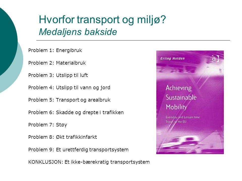 Hvorfor transport og miljø Medaljens bakside
