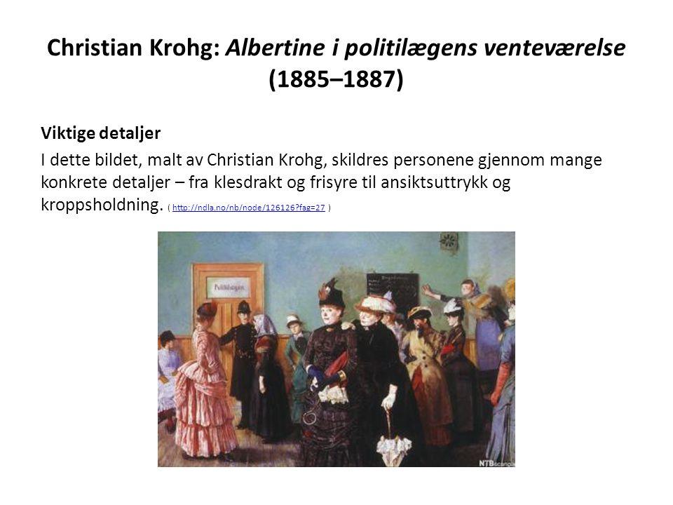 Christian Krohg: Albertine i politilægens venteværelse (1885–1887)