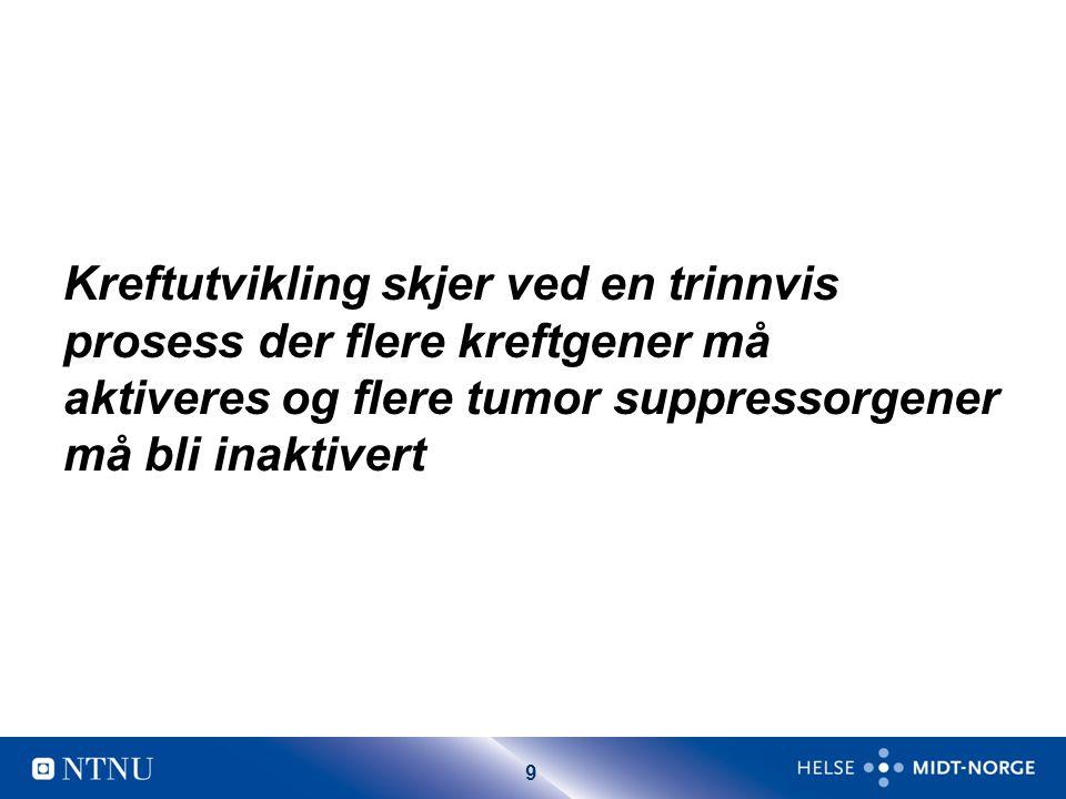 Kreftutvikling skjer ved en trinnvis