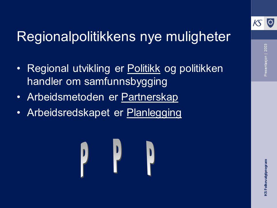 Regionalpolitikkens nye muligheter