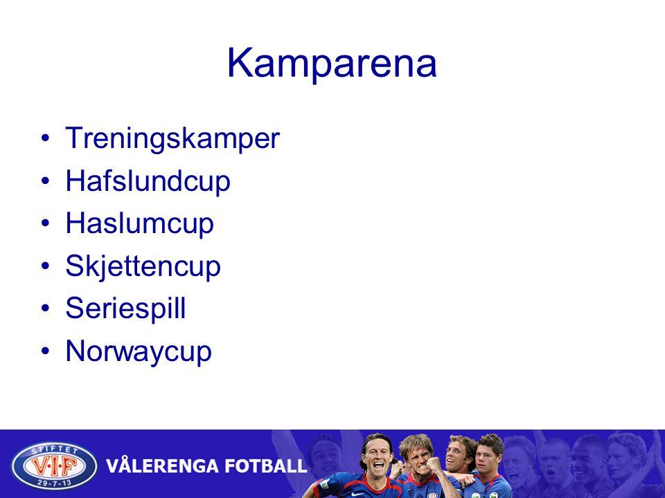 Kamparena Treningskamper Hafslundcup Haslumcup Skjettencup Seriespill