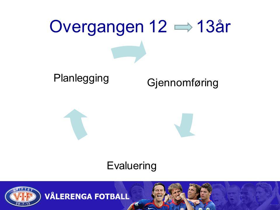 Overgangen 12 13år Gjennomføring Evaluering Planlegging