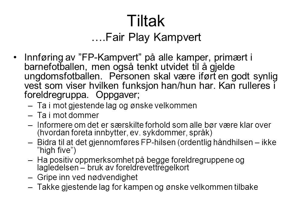 Tiltak ….Fair Play Kampvert