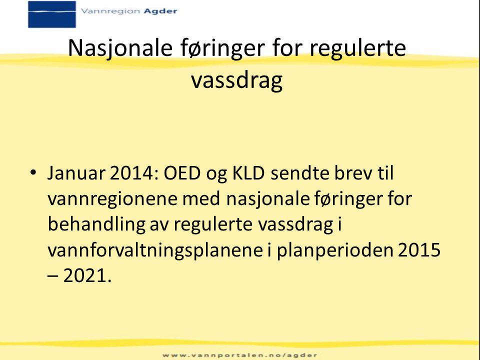 Nasjonale føringer for regulerte vassdrag