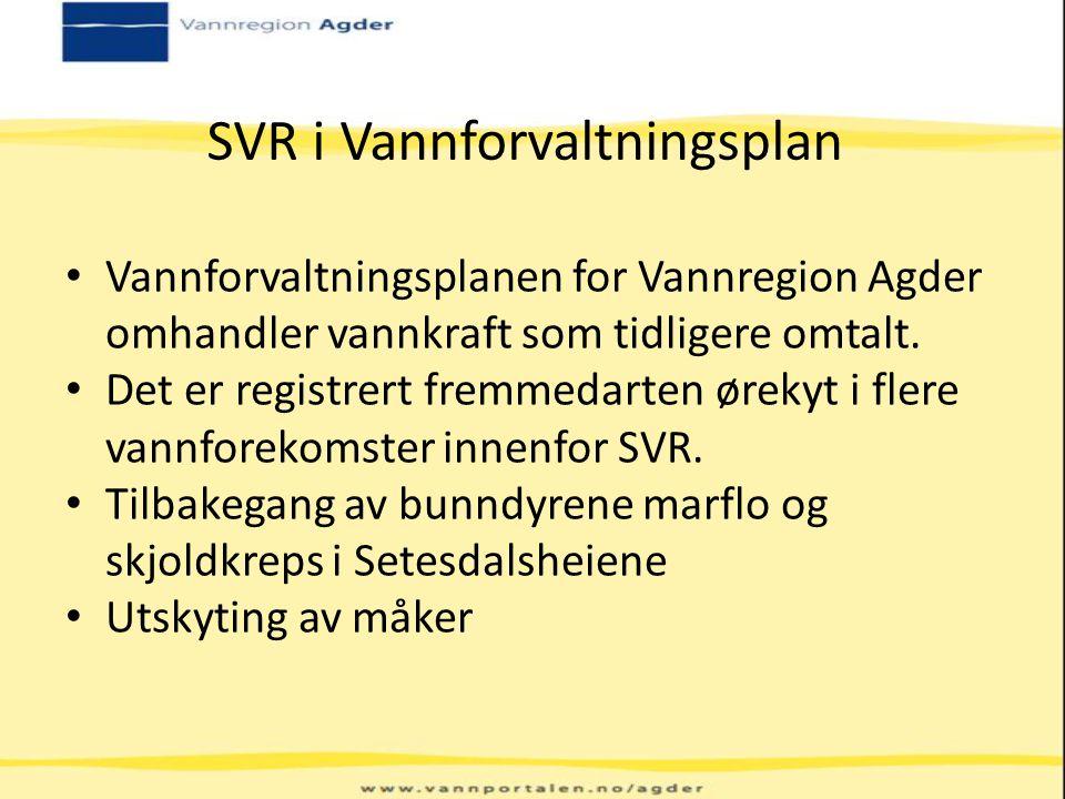 SVR i Vannforvaltningsplan