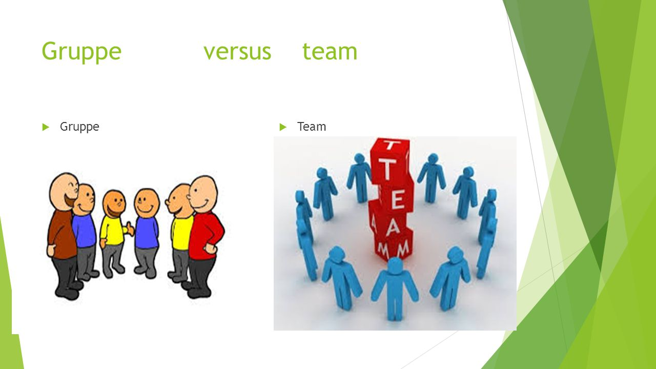 Gruppe versus team Gruppe Team