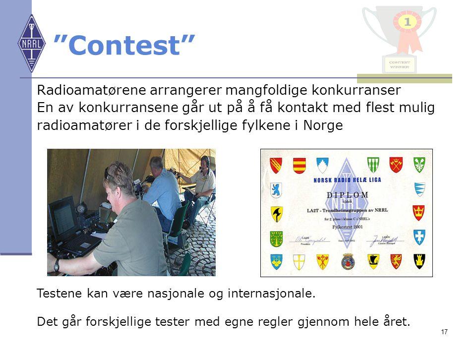Contest Radioamatørene arrangerer mangfoldige konkurranser
