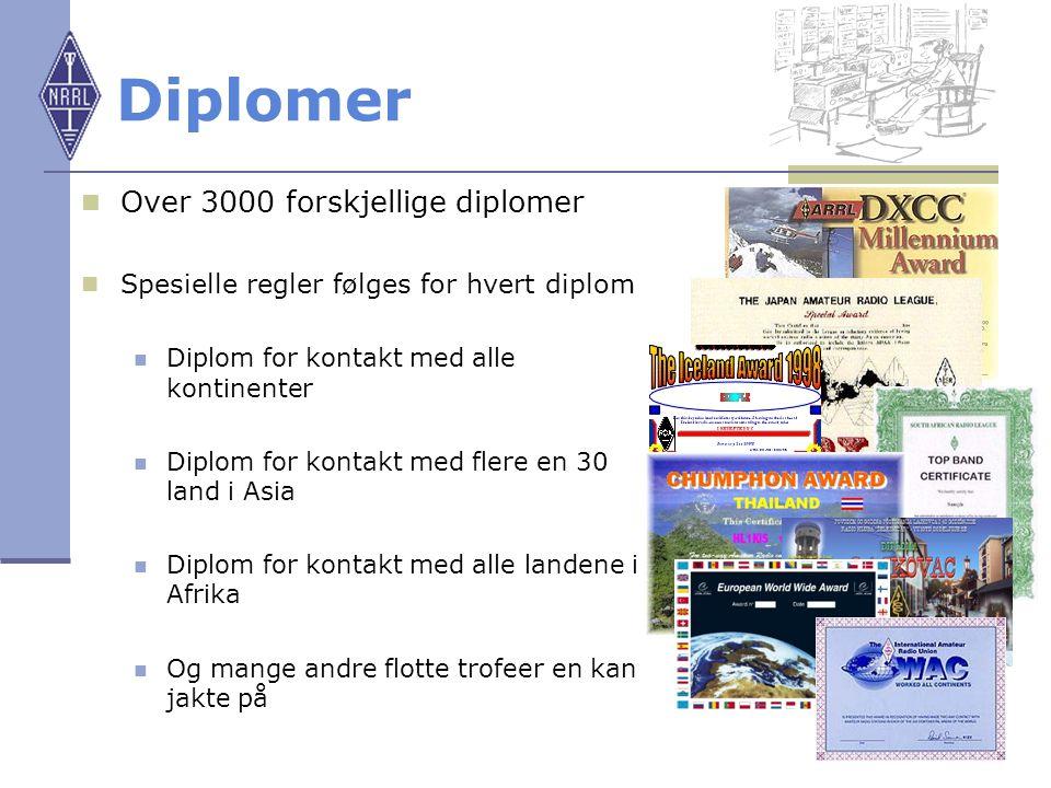 Diplomer Over 3000 forskjellige diplomer