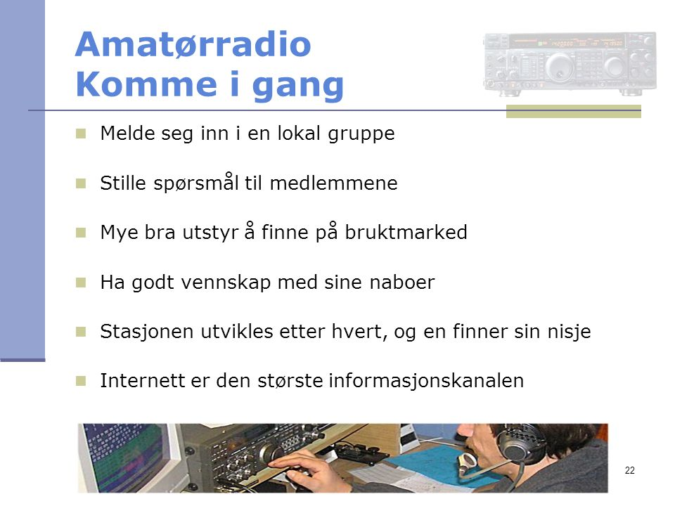 Amatørradio Komme i gang
